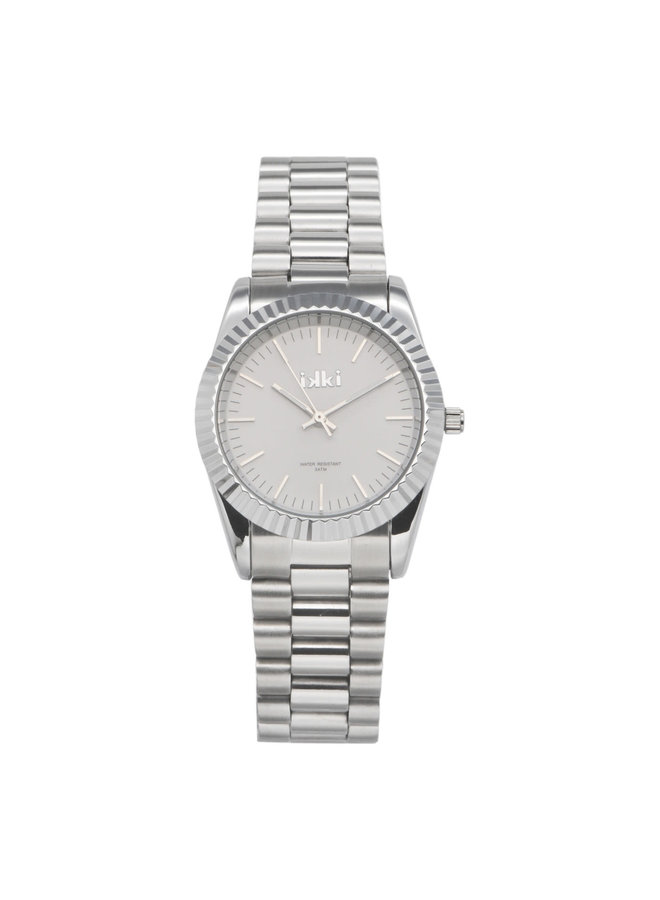 IKKI horloge Bronx BX01 Silver