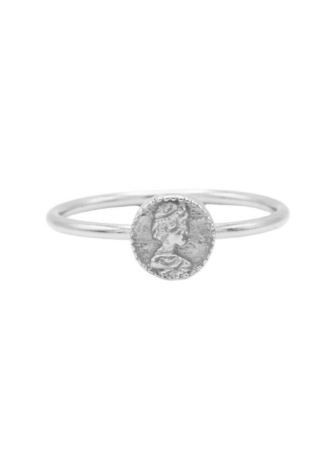 Karma ring Coin Silver