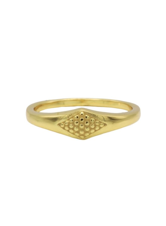Karma ring Signet Gold Plated