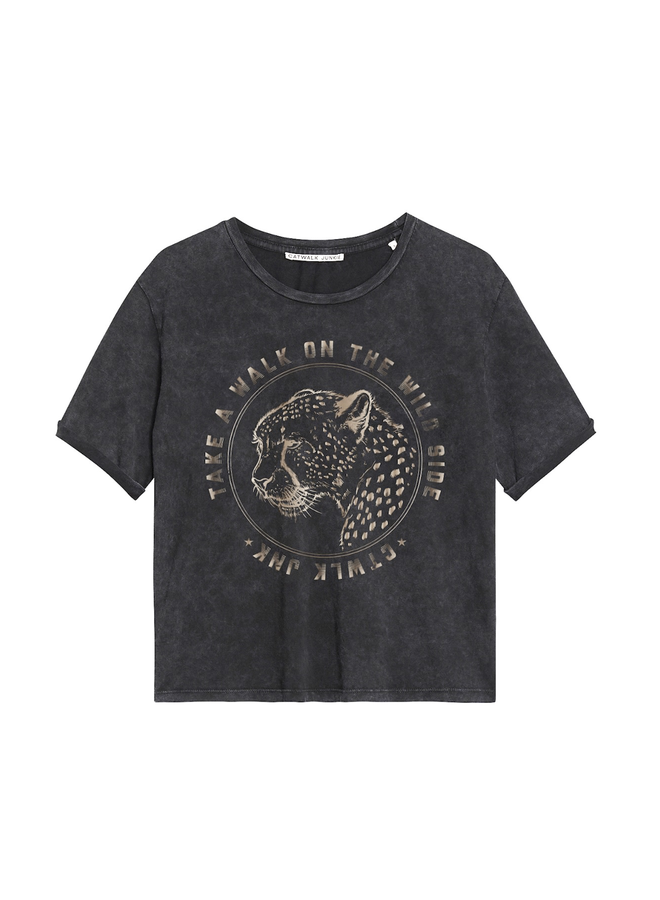 Catwalk Junkie T-Shirt Wilde Side Dark Grey