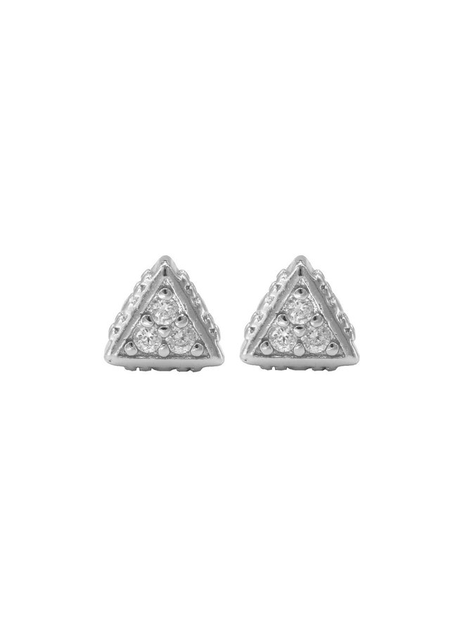 Karma oorstekers Zirconia Symbols Triangle Silver