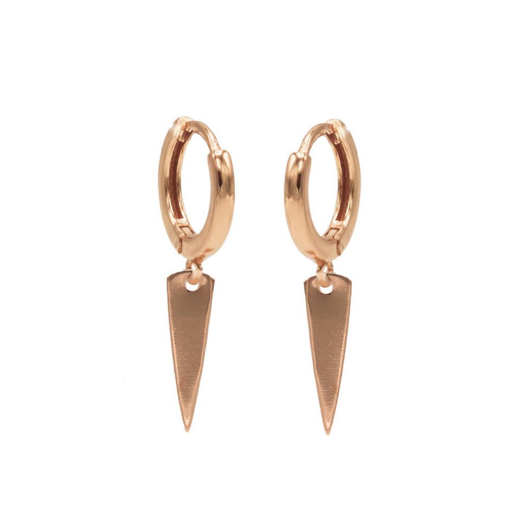 Karma Karma oorbellen Hinged Hoops Symbols Cone Rosé Gold Plated