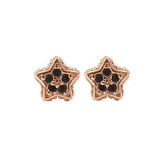 Karma Karma oorstekers Black Zirconia Symbols Star Rose Gold