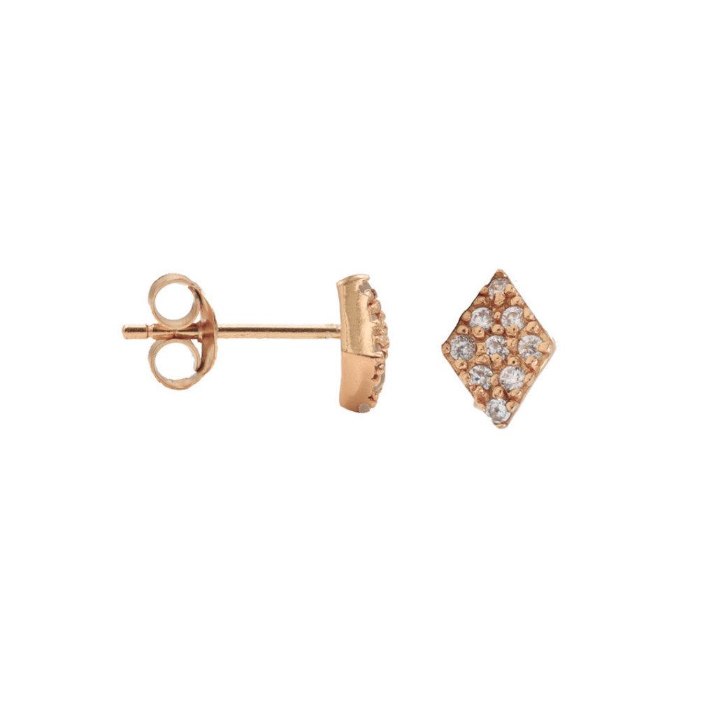 Karma Karma oorstekers Zirconia Symbols Diamond Rosé Gold