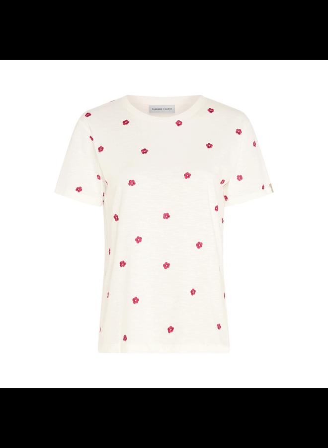 Fabienne Chapot t-shirt Phil Flower Cream White