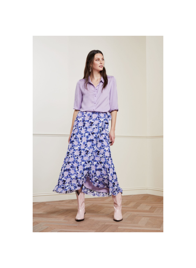 Fabienne Chapot rok Bobo Frill Skirt Cream White Lilac