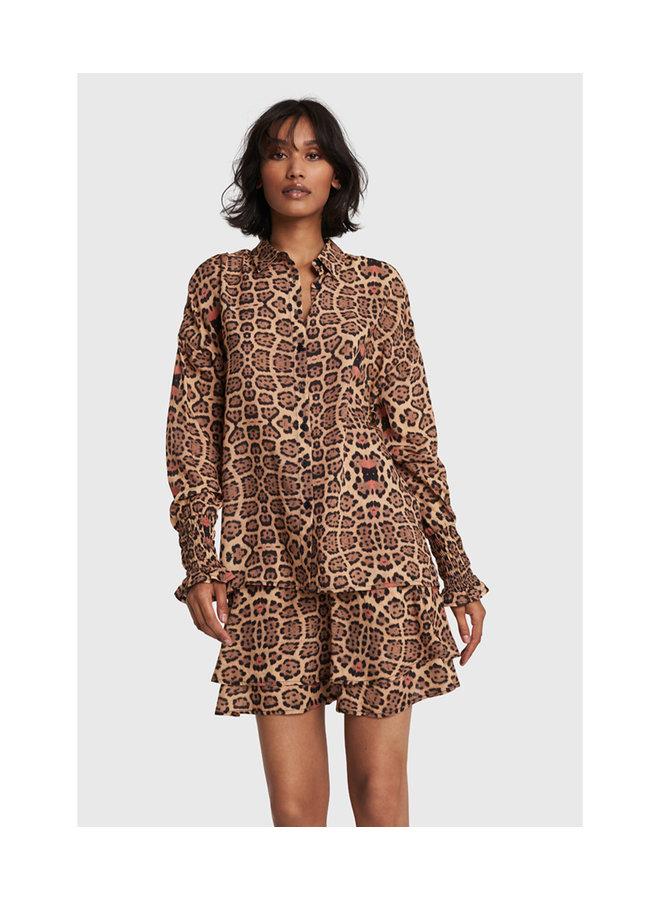 ALIX The Label blouse Woven Jaguar Animal