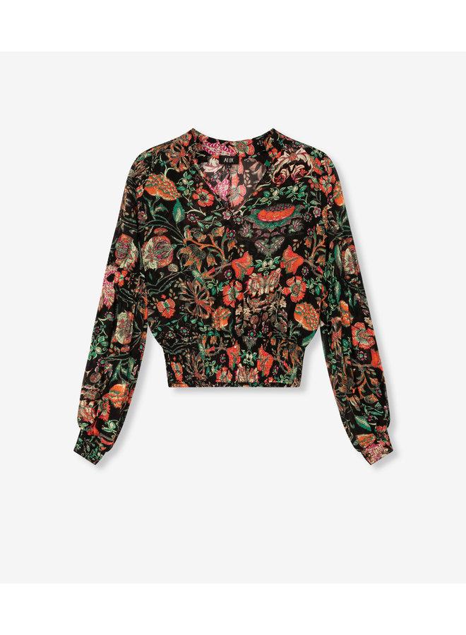 ALIX The Label blouse Chiffon Multi Colour