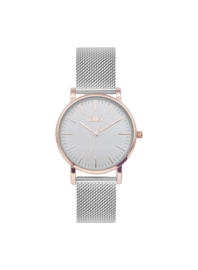 IKKI horloge Jamy JM08 Silver Rosé Gold