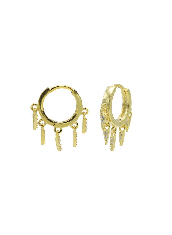 Karma oorbellen M3183GP Gold Plated