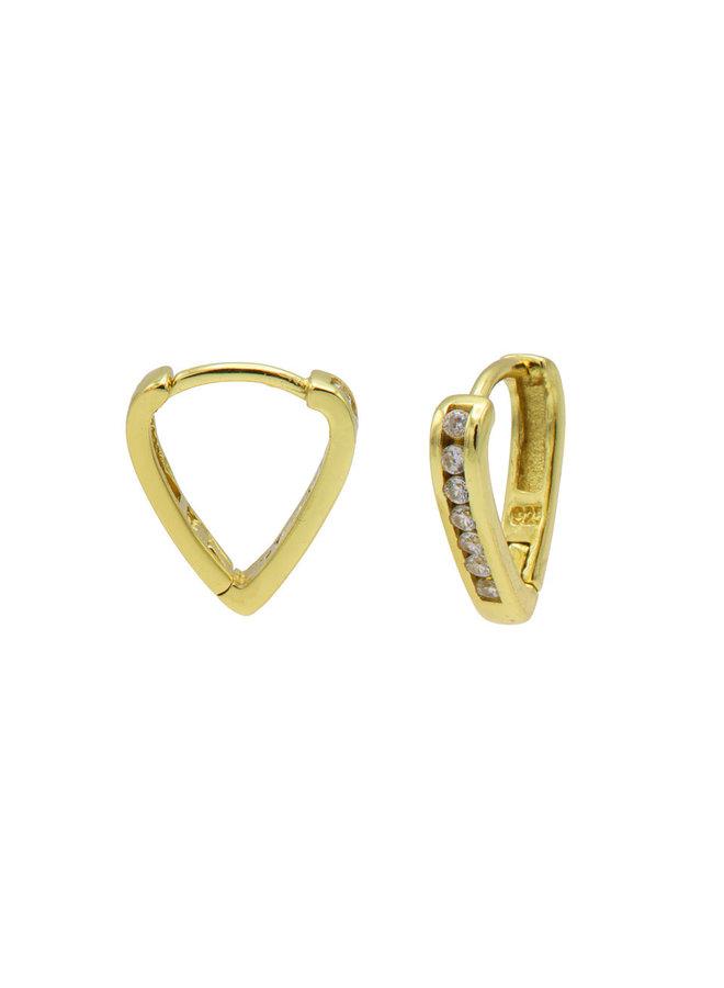 Karma oorbellen Hinged Hoops 3204 Gold Plated