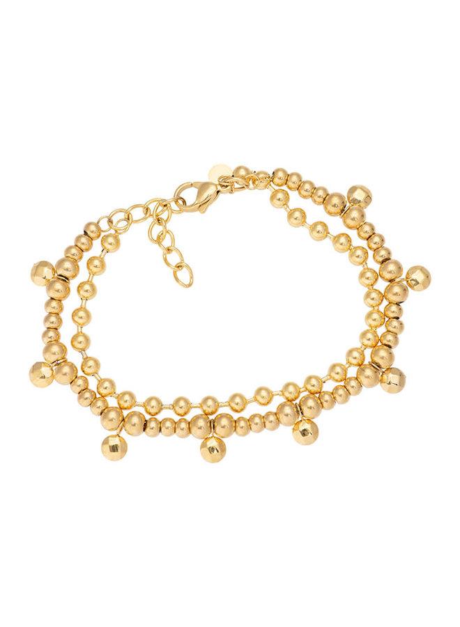 iXXXi enkelbandje Dazzling circles Gold Plated