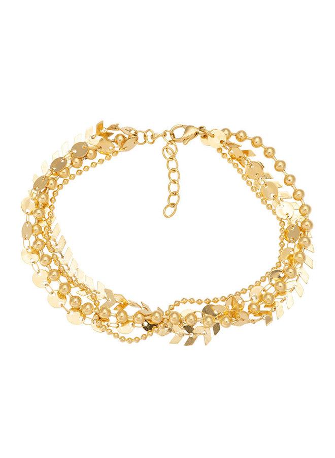 iXXXi enkelbandje Arrow Chain Gold Plated
