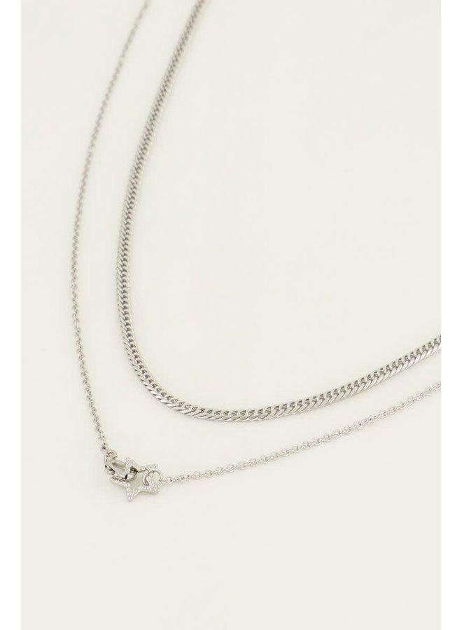 My Jewellery kettingen Set Sterretjes Zilver