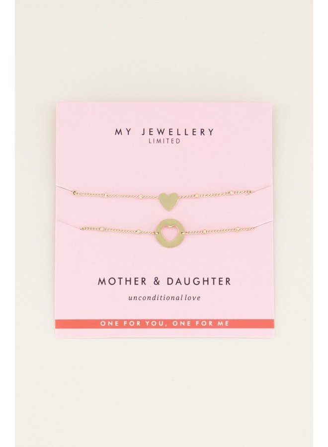 My Jewellery armband Moeder & Dochter Goudkleurig