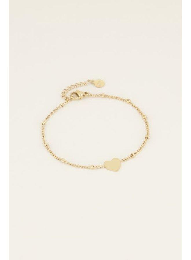 My Jewellery armband Dochter Hartje Goudkleurig