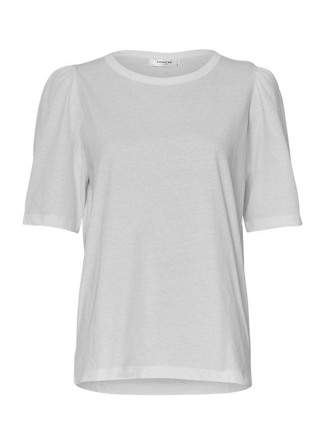 MSCH Copenhagen T-shirt Mo Alva Puff White