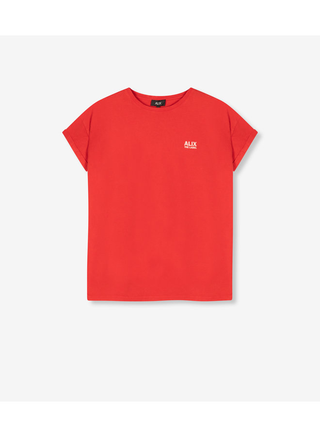 ALIX The Label T-shirt On Tour Warm Red