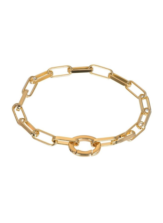 iXXXi armband Square Chain Gold Plated