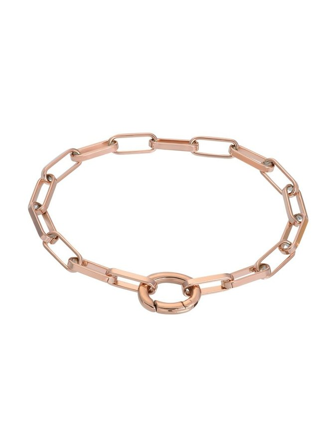 iXXXi armband Square Chain Rosé Gold Plated