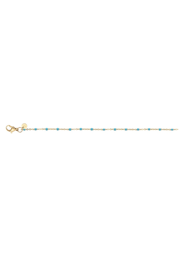 iXXXi ketting Slim Ball Turquoise Gold Plated