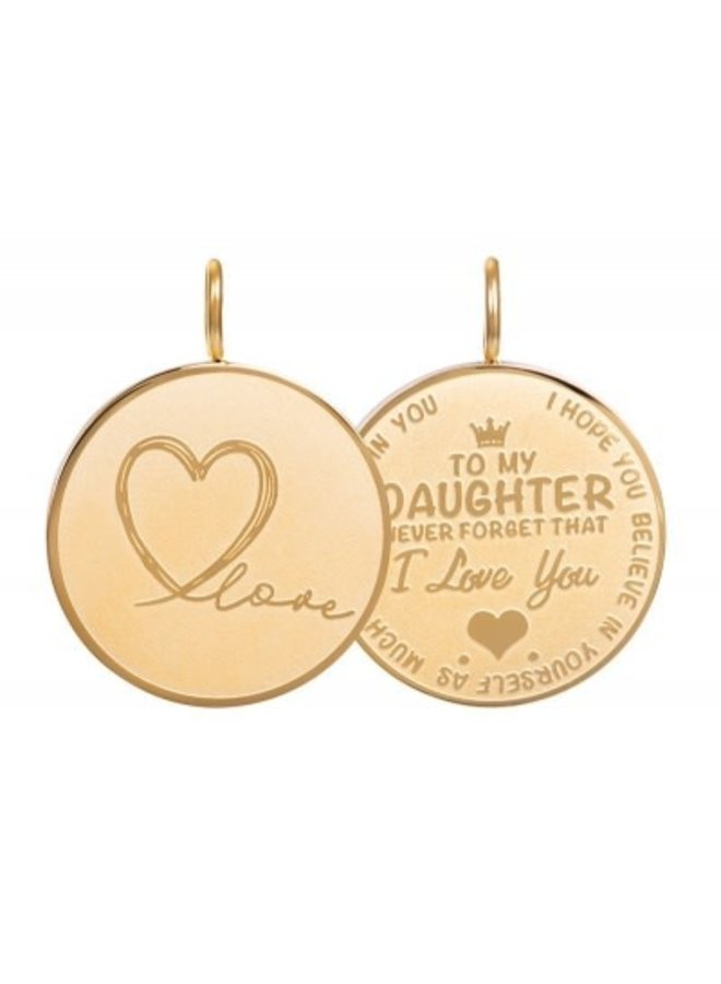 iXXXi hanger Daughter Love Small Gold Plated