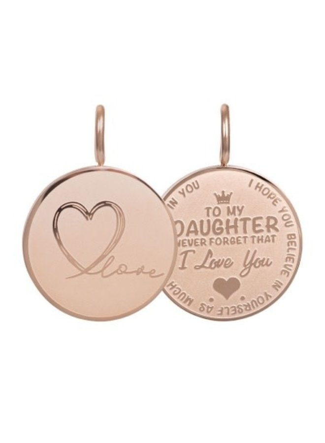 iXXXi hanger Daughter Love Small Rosé Gold Plated