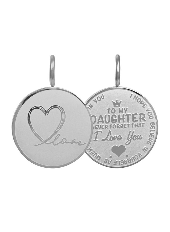iXXXi hanger Daughter Love Small Stainless Steel