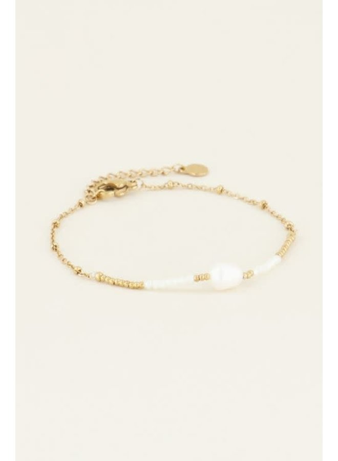 My Jewellery armband Kralen & Parel Goud