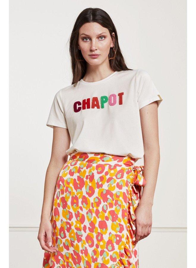 Fabienne Chapot T-shirt Terry Cream White/Multicolor