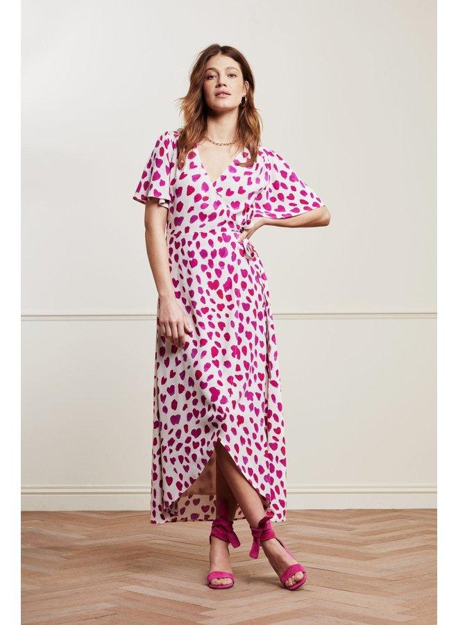 Fabienne Chapot jurk Cato Archana Sleeve Happy Leopard