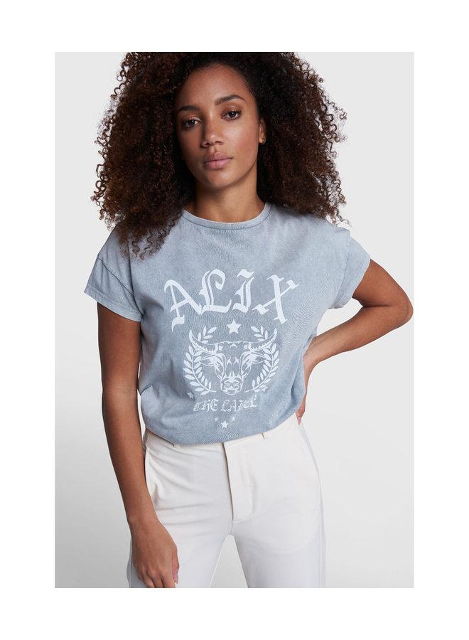 ALIX The Label T-shirt University Pale Grey