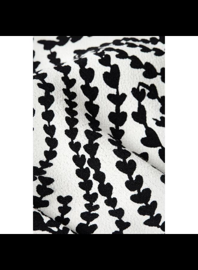 Fabienne Chapot jurk Boyfriend Cream White/Black Heart Lines