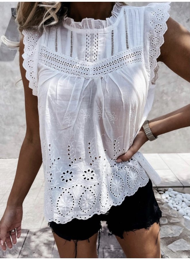 Jewelz blouse Broderie OY-188 Ecru
