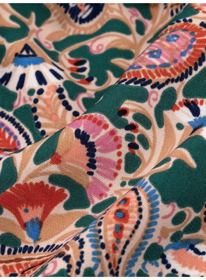 Ydence jurk Phoenix Green Paisley