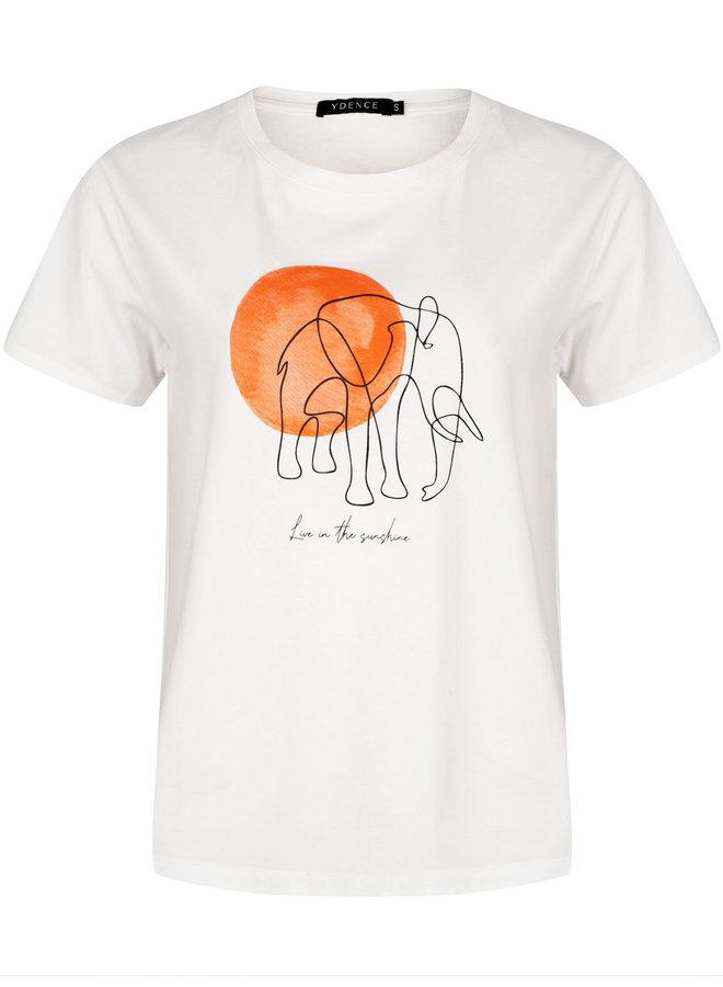 Ydence T-shirt Elephant White