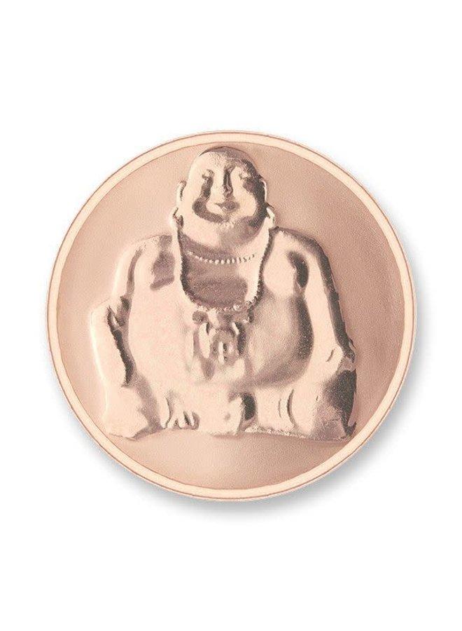 Mi Moneda munt Buddha & Buddha Rosé Gold Plated