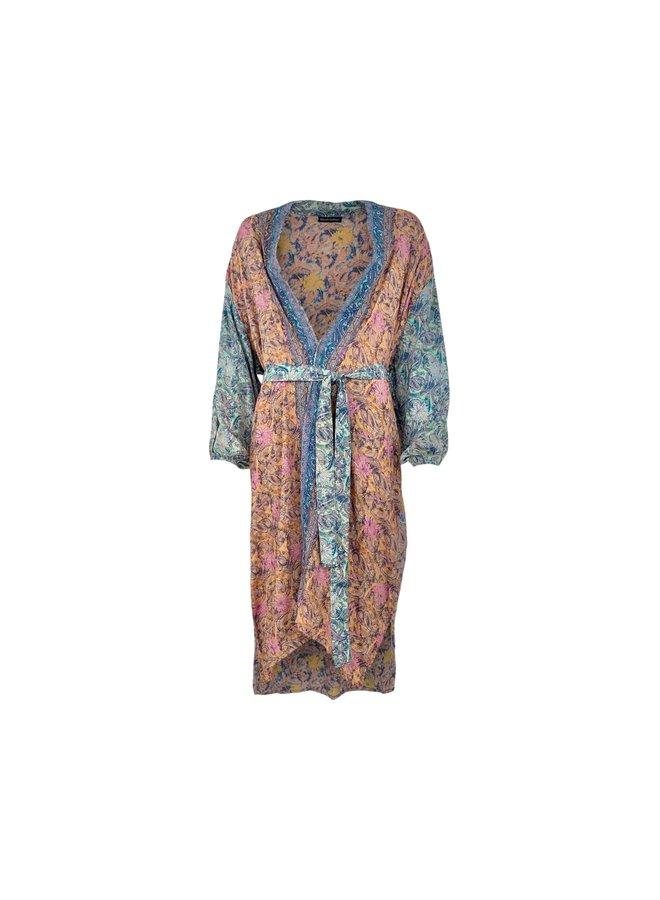 Black Colour kimono Luna Long Pastel Mix One Size