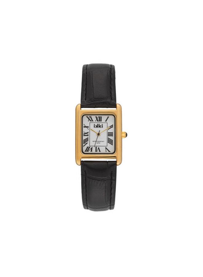 iKKi horloge Chloe CHE04 Zwart/Goud