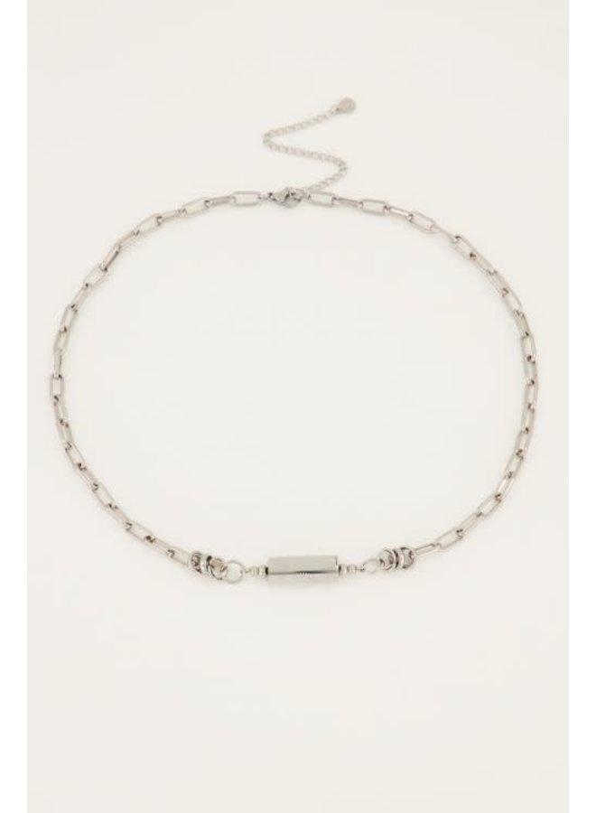 My Jewellery schakelketting Love bedel Zilver
