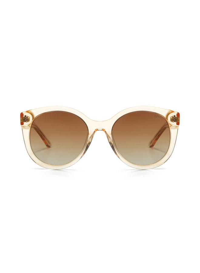 iKKi Zonnebril Quinn 95-5 Transparant Gold/Gradient Brown