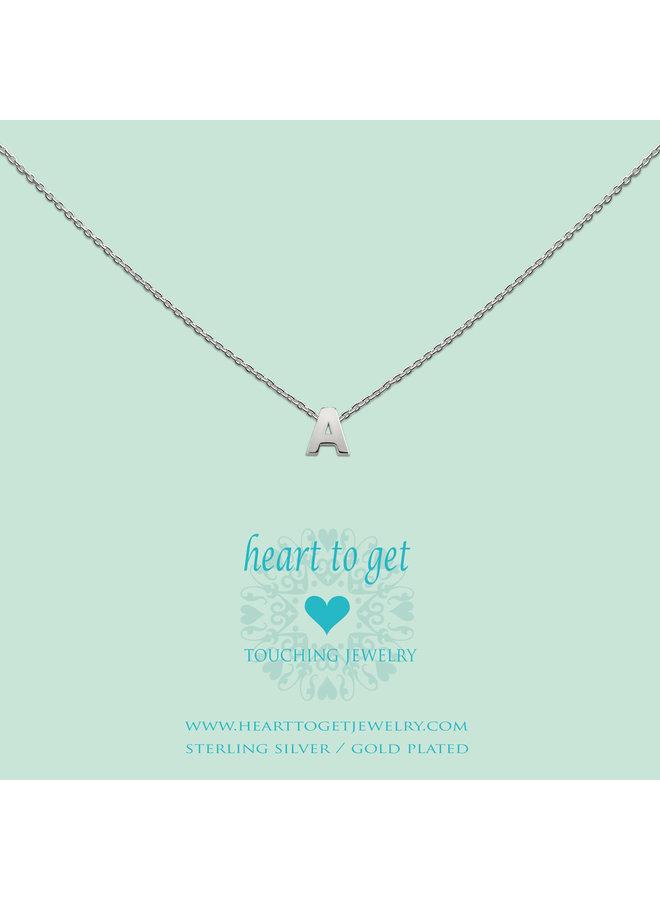 Heart for Initials hanger Letter Silver
