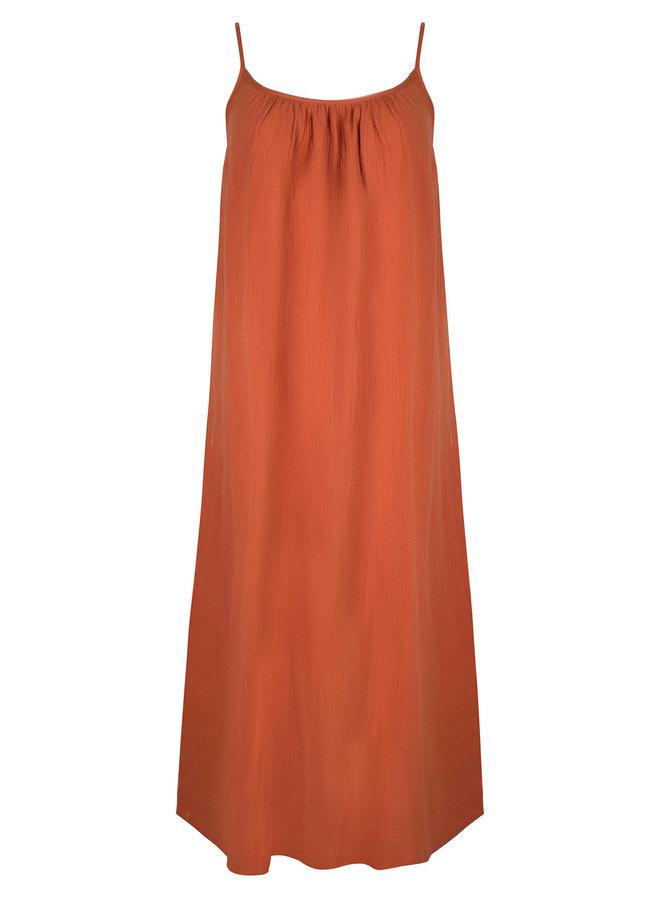 Ydence jurk Avery Terracotta