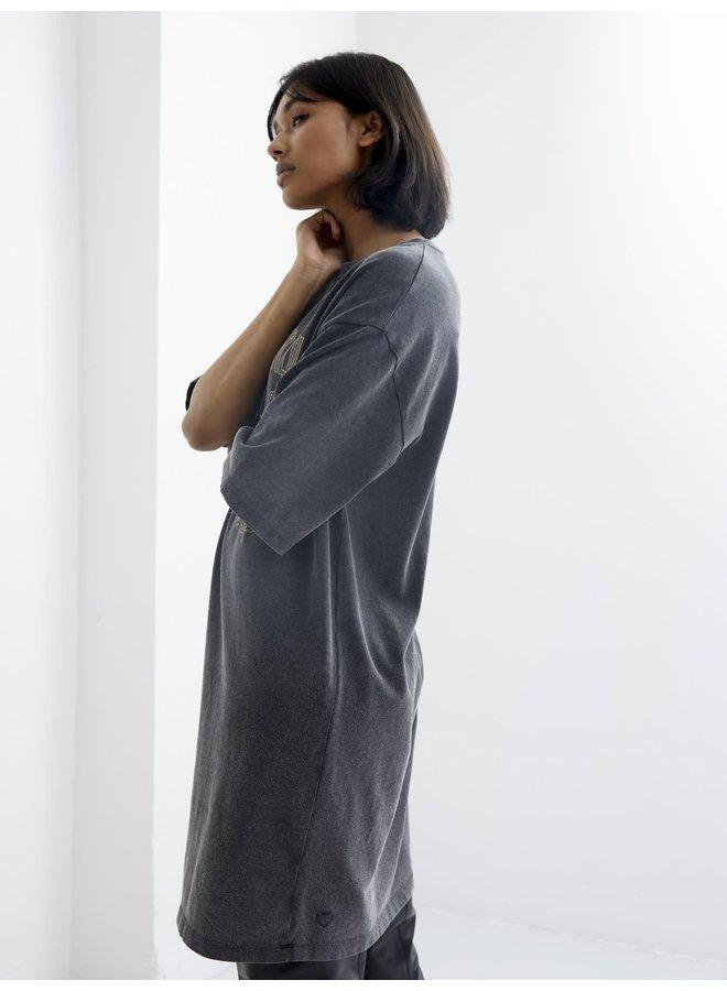 Catwalk Junkie jurk Life is Love Dark Grey