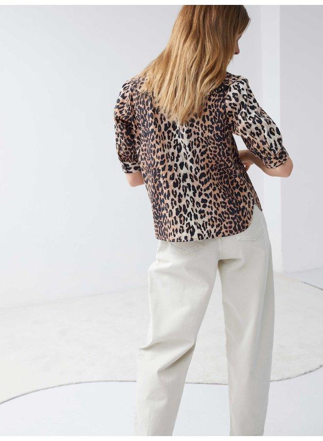 Catwalk Junkie blouse Wild Leopard Brown