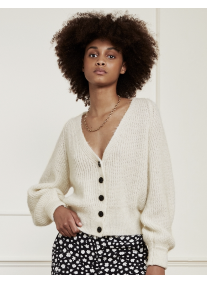 Vest Starry Cream White/Black
