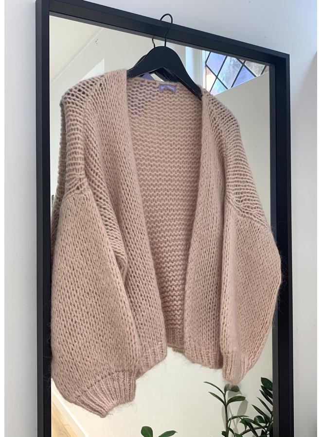 Mohair vest Rosa Antico 1512