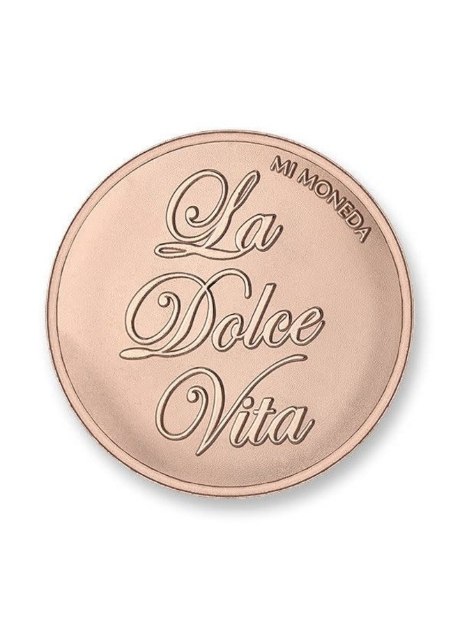 Mi Moneda munt Dolce Vita & Veni Vidi Vici Rose Gold Plated