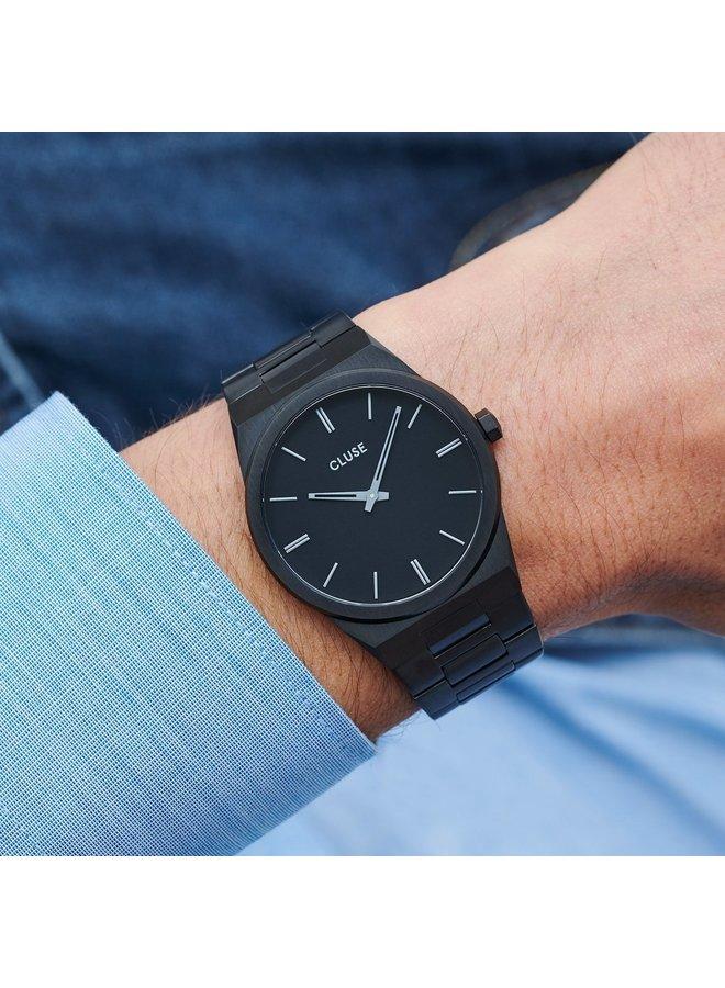 CLUSE horloge Vigoureux Steel Black