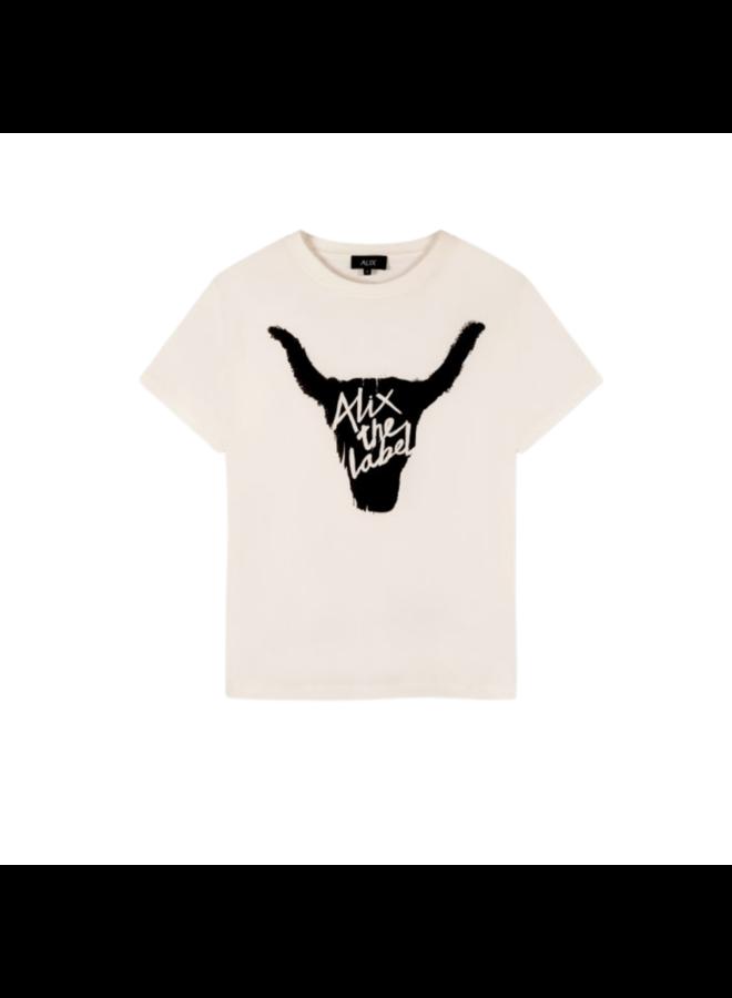 T-shirt Bull Soft White